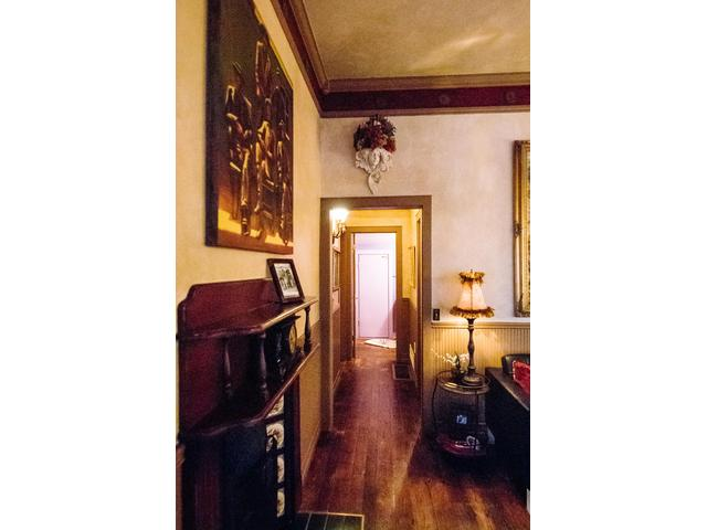 Looking down the hall toward the bedrooms and bathroom