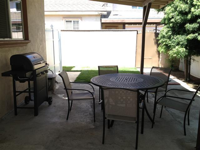 back yard patio area