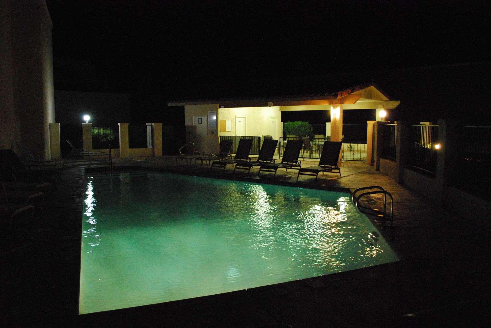 Community Pool at Night