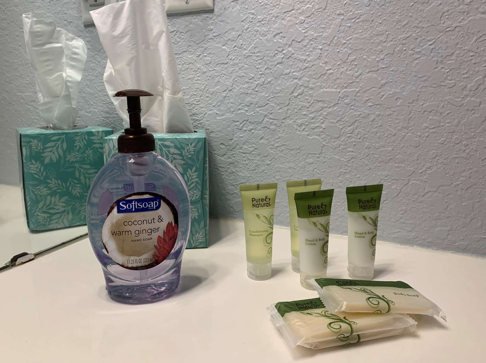 Toiletries guest bathroom