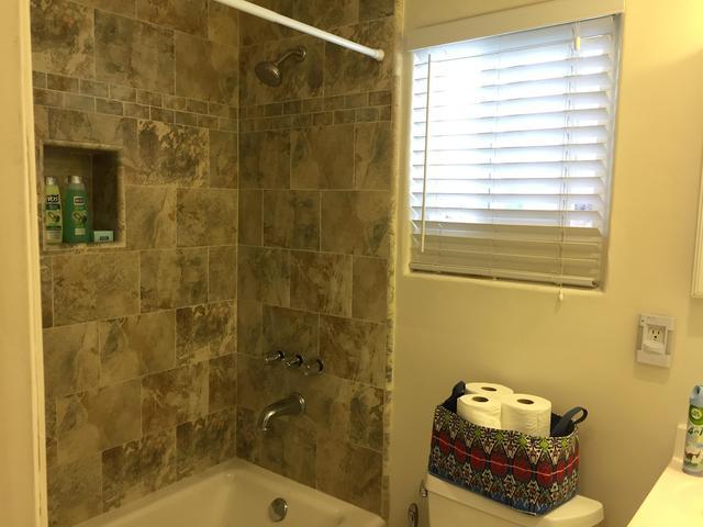Bathroom with shower & bathtub