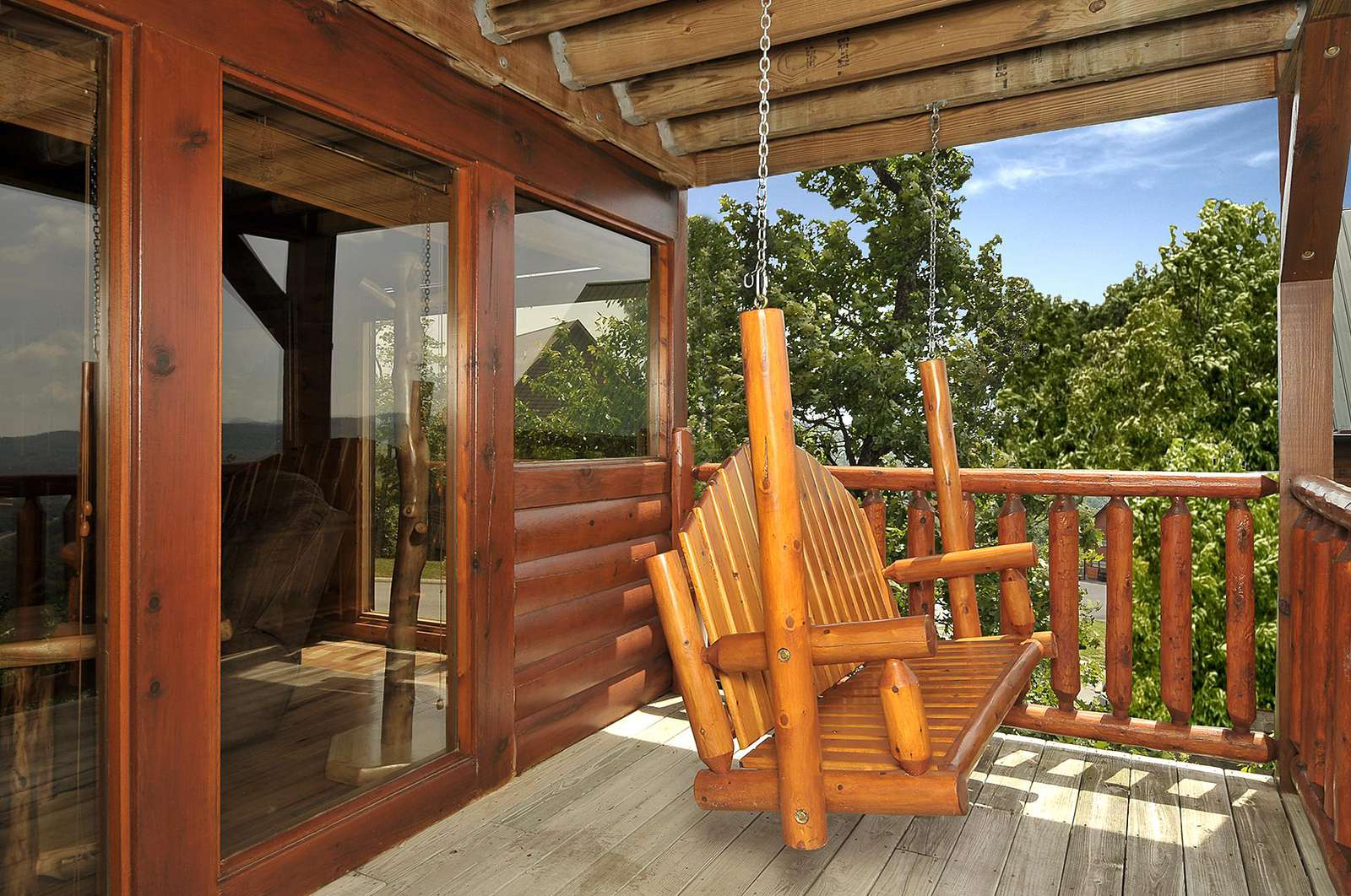 Bench Swing on Porch