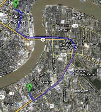 10 minutes to downtown French Quarter