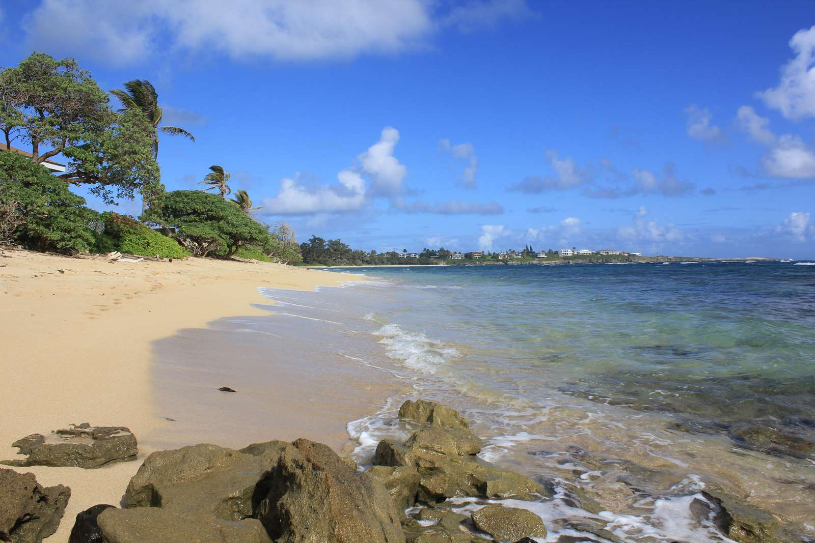 Laie Beach in front of the property.  Secluded and feels private.