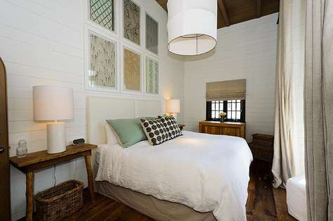 Exquisite master bedroom with tall ceilings, king bed and unique touches (No TV in this room)