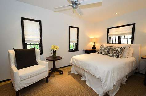 First floor Queen guest room with flat screen TV and private bath
