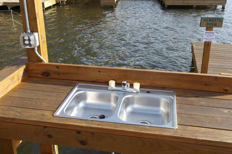 What dock would be complete without a fish cleaning station?