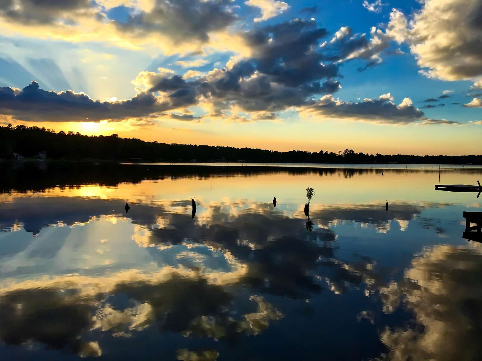 The sunsets can be incredible. The shaded view iis westerly, watch the sun set over the lake..
