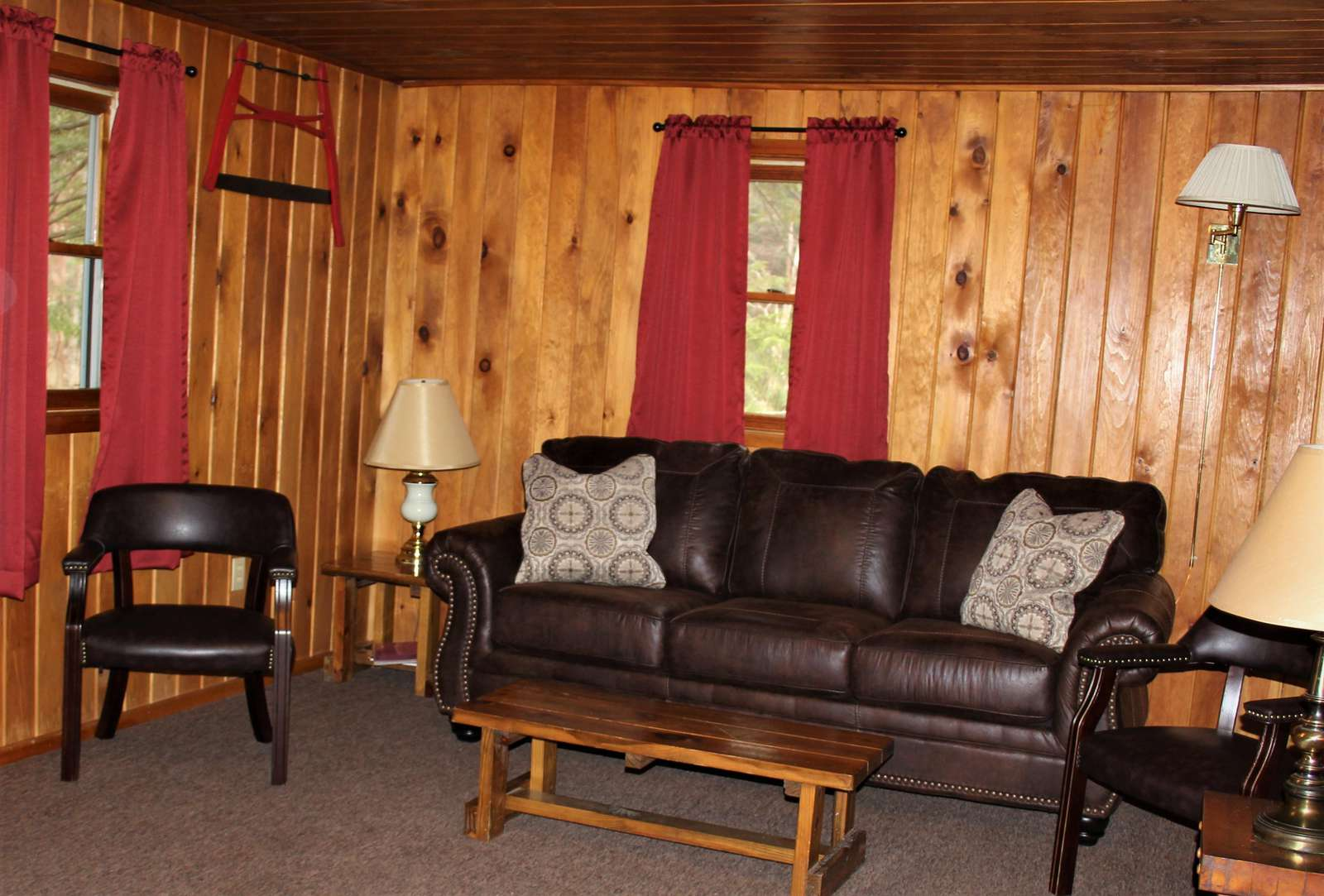 Living Room at Douglas Fir Cabin