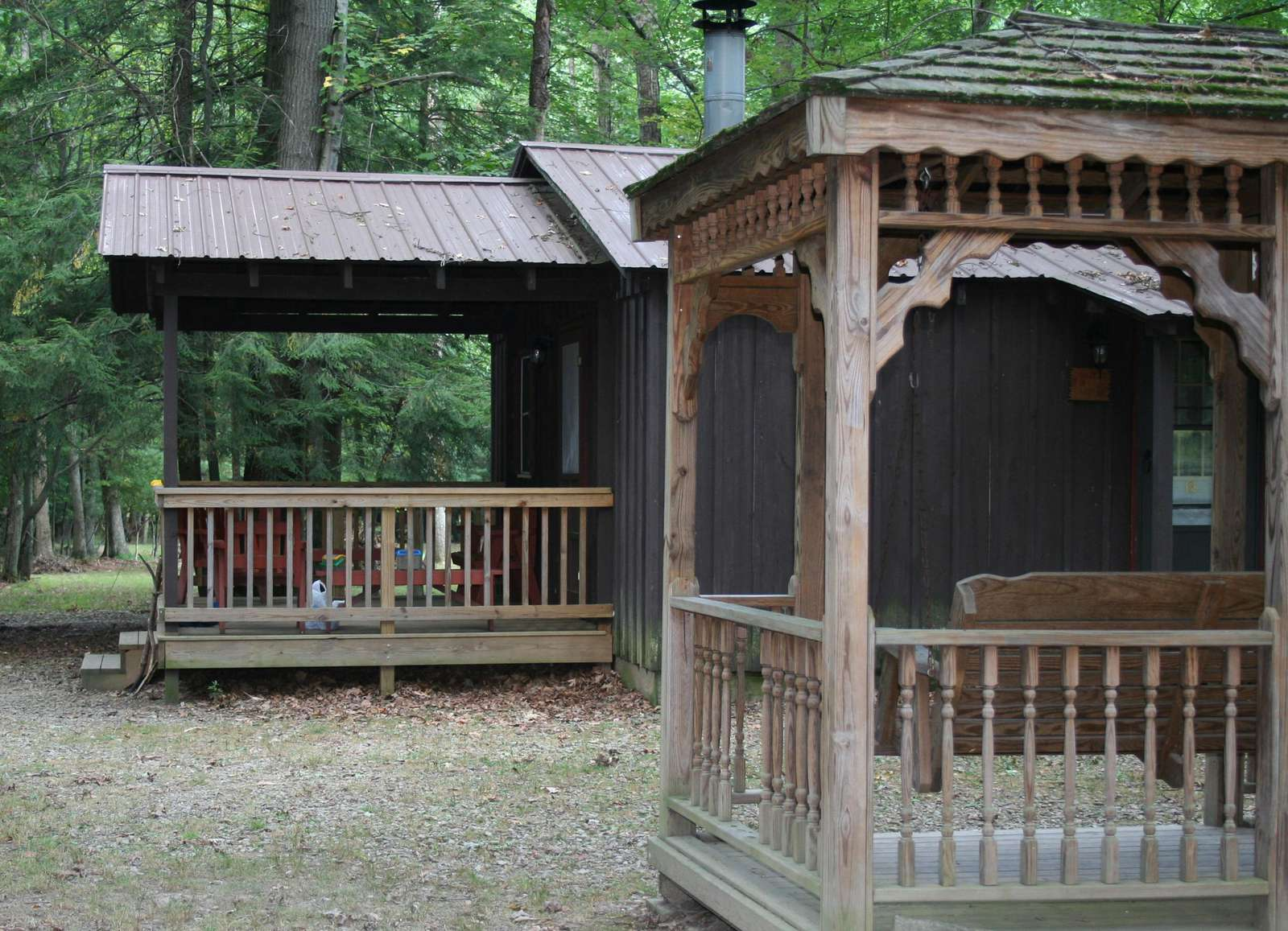 Douglas Fir Back Porch and Gazebo