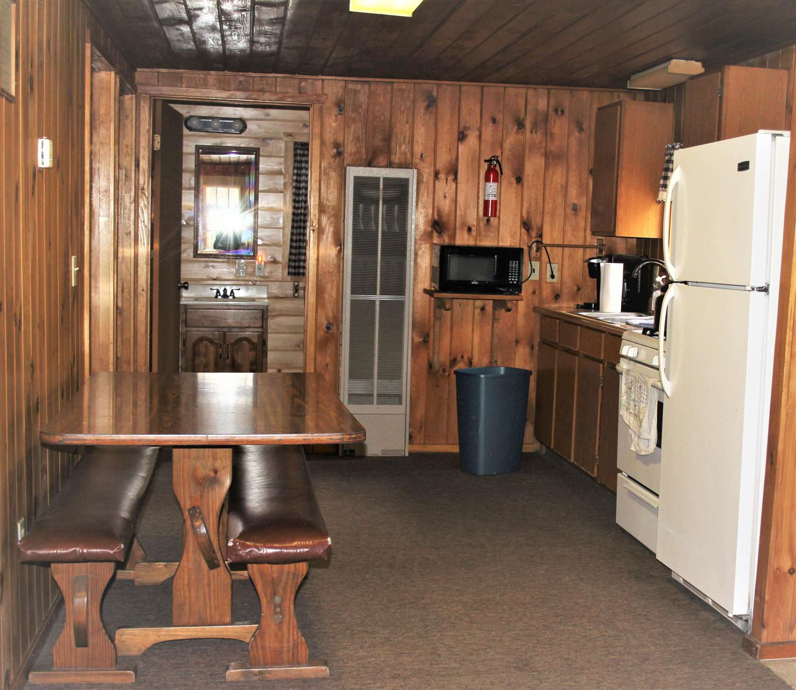 View of Kitchen and Dining Area at Douglas Fir Cabin