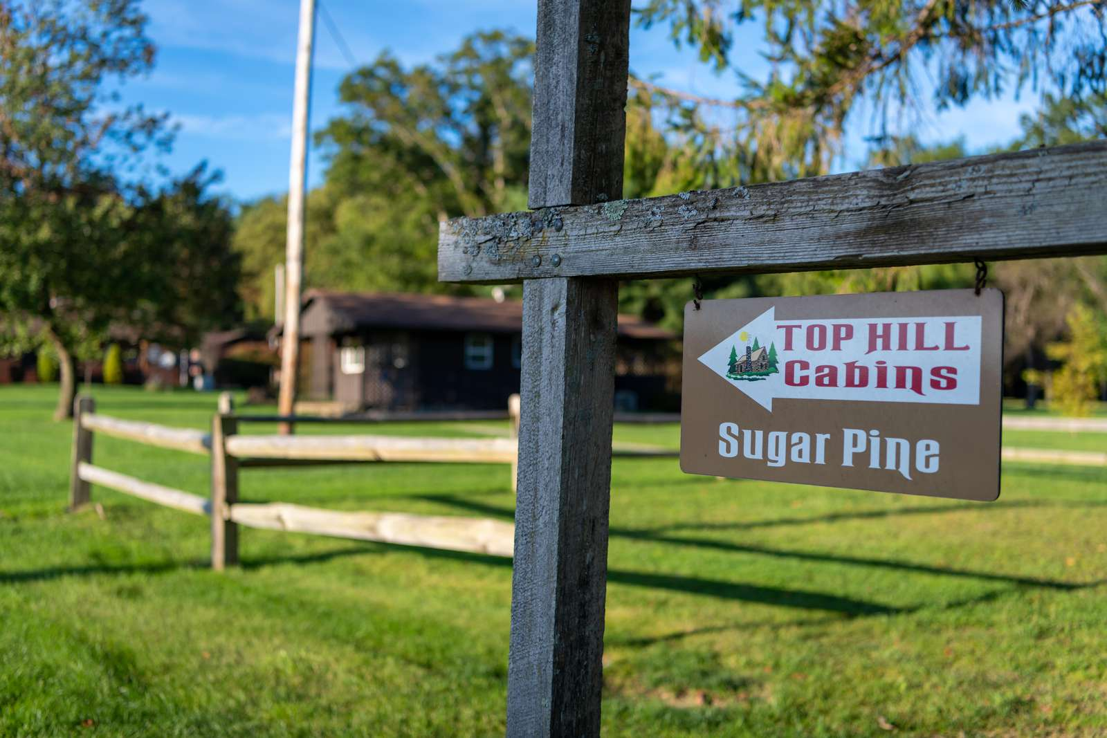 Sign for Sugar Pine Cotage