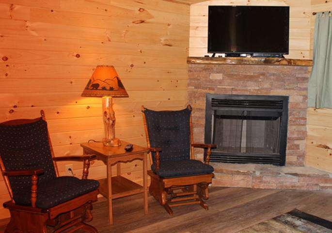Sugar Pine Wood Burning Fireplace
