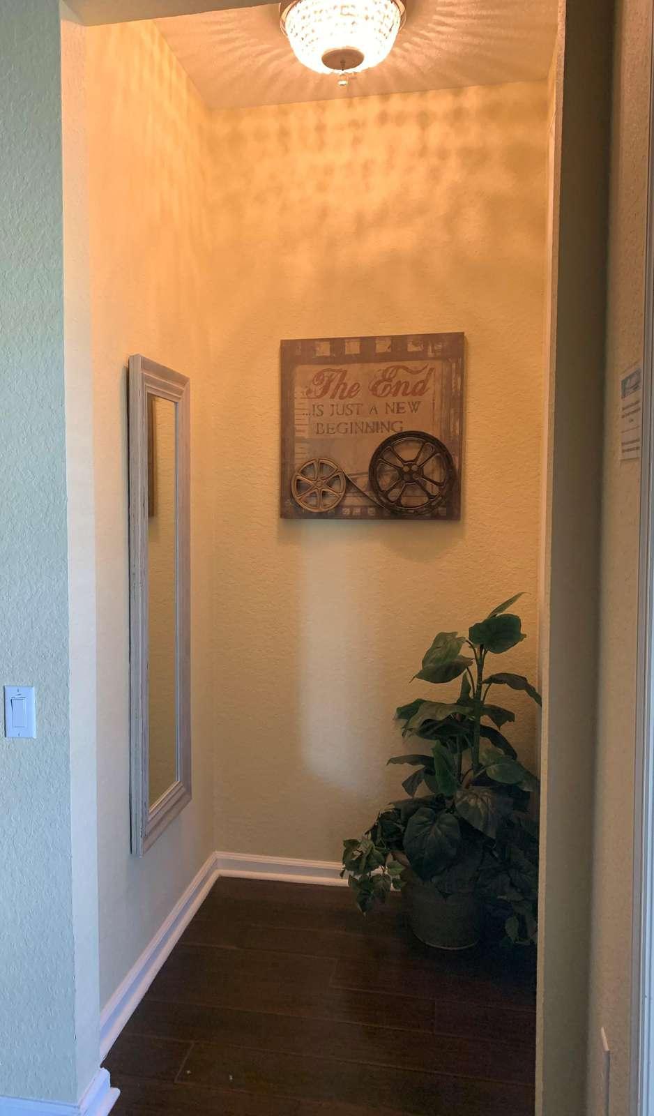 Hallway to master bedroom and en-suite master bathroom