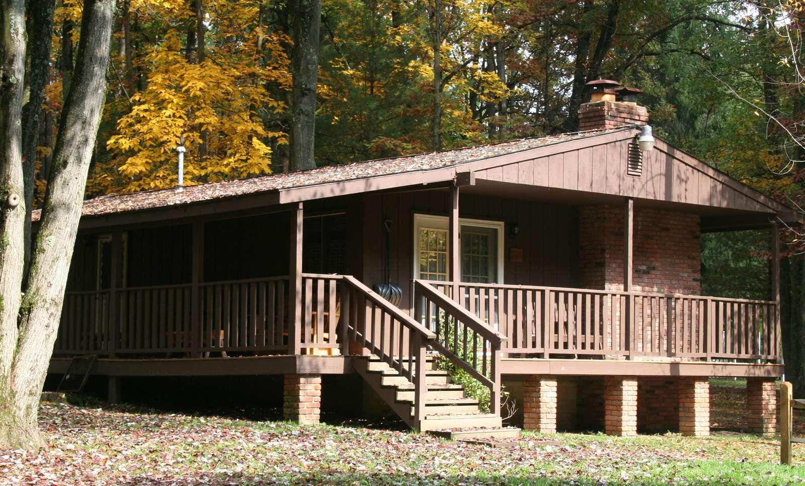 Fall at Hemlock Haven Cabin #3