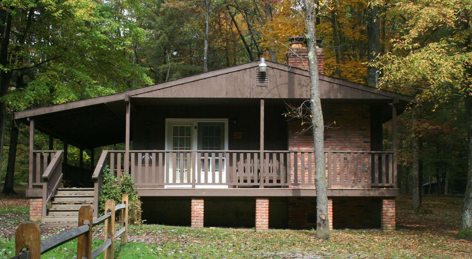 Fall at Hemlock Haven Cabin