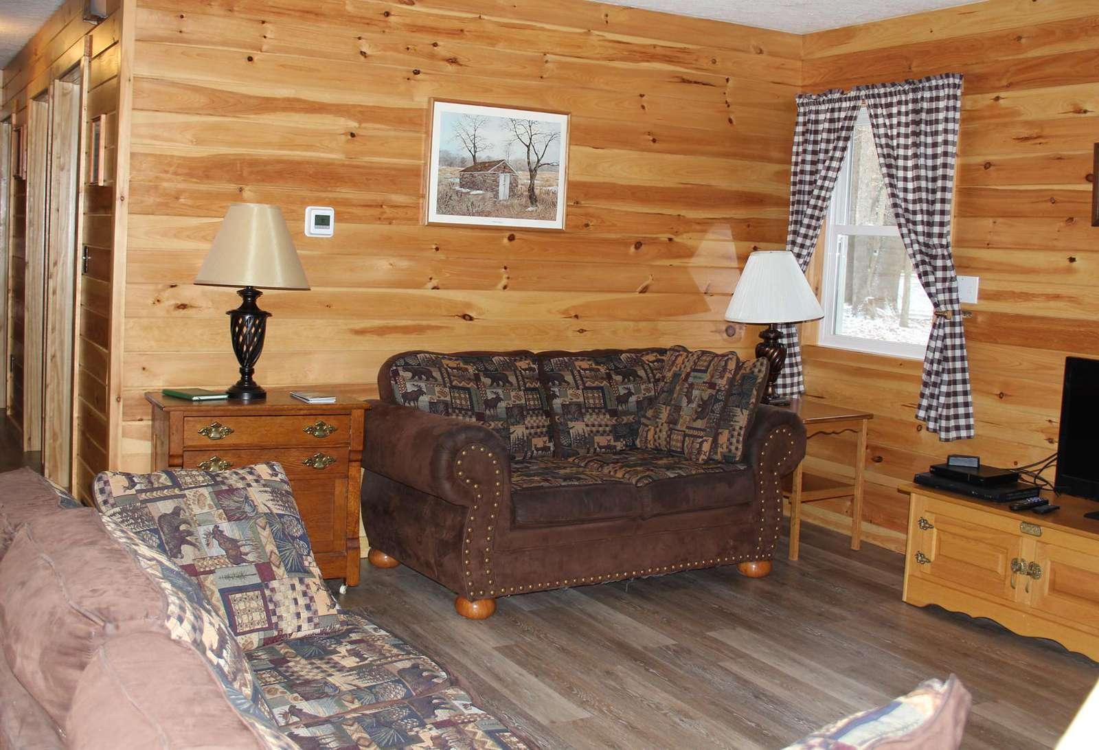 Living Room showing new flooring
