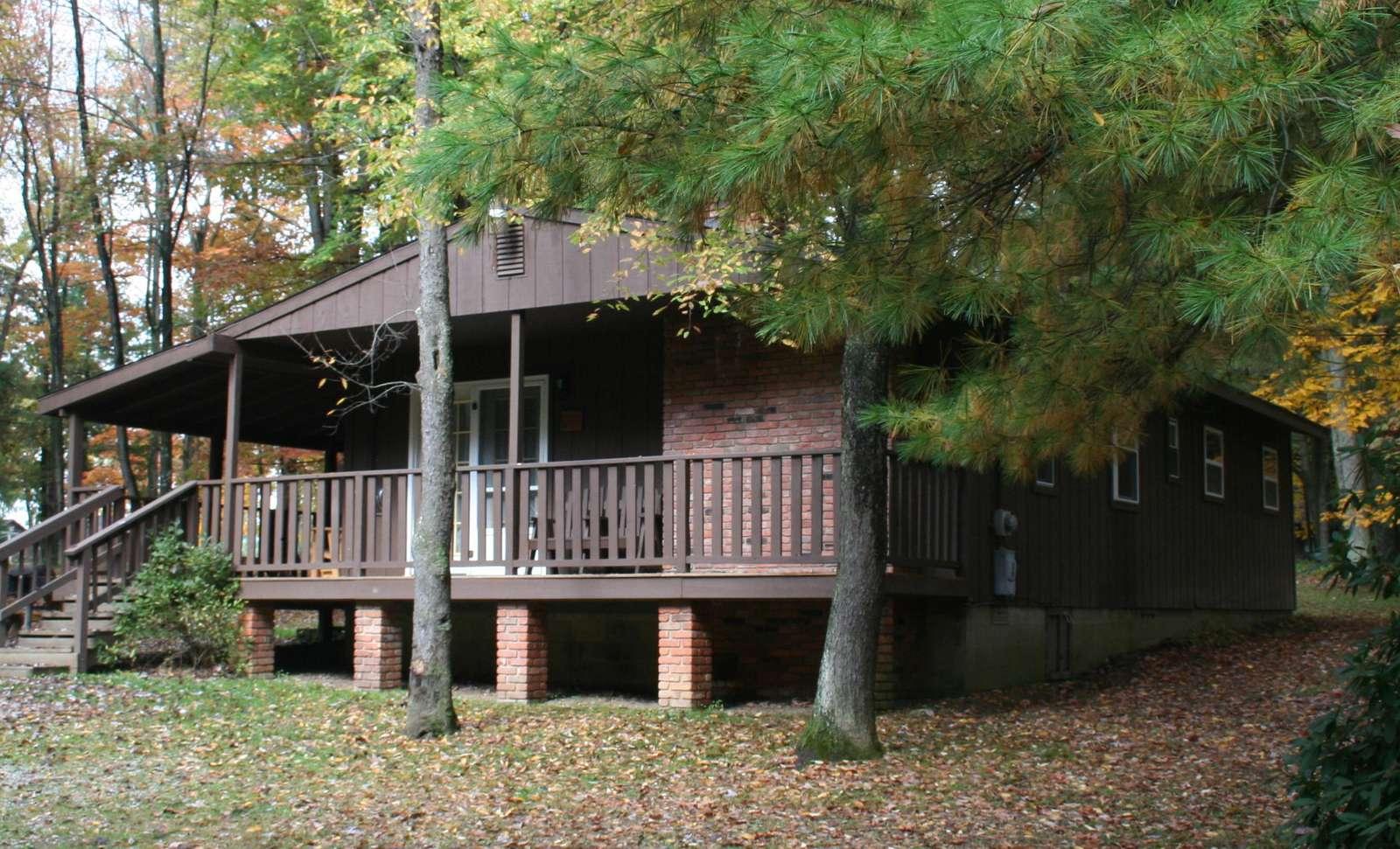 Fall at Hemlock Haven Cabin #2