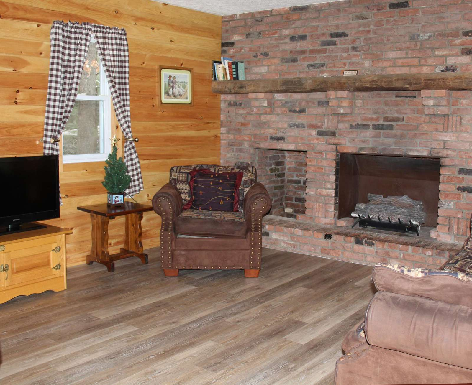 Living Room - Gas Log Fireplace
