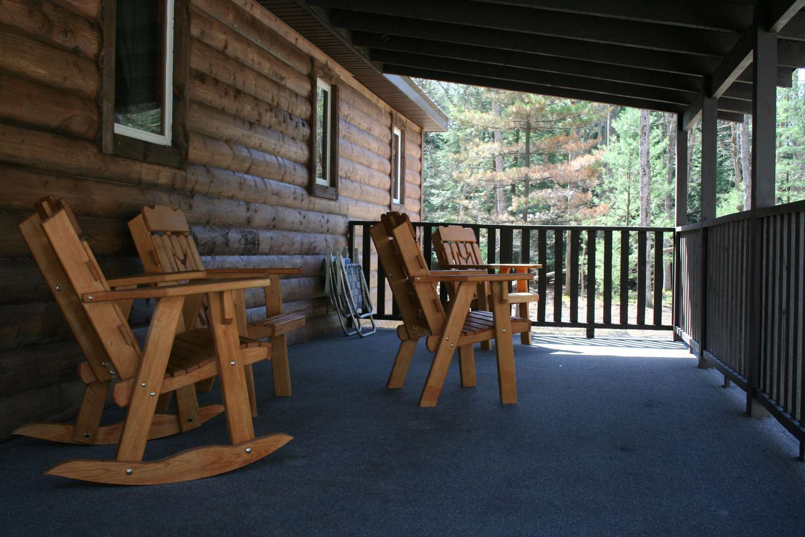 Large Back Porch with Porch Furniture
