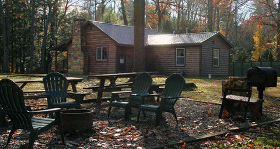 Old Hickory Cabin - View from Picnic and Firepit Area