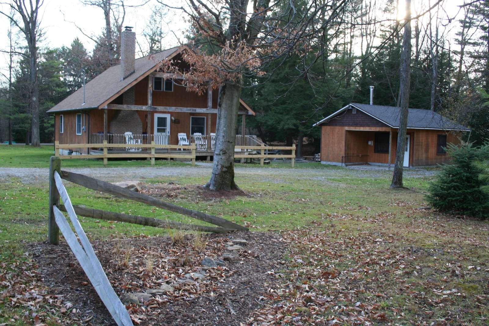 Sunburst Locust Cabin and Sunburst Annex Cabin.