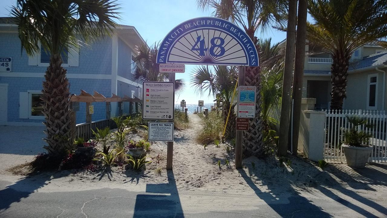 beach access for your guest to enter