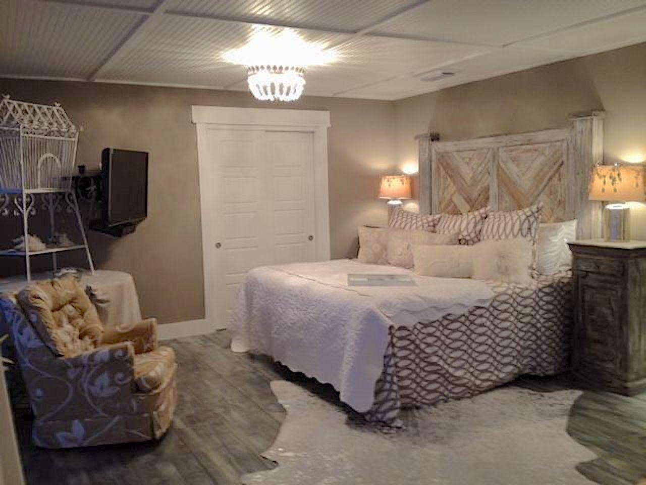 Bedroom #3 - master suite with king bed, flat screen, and deck overlooking the Gulf
