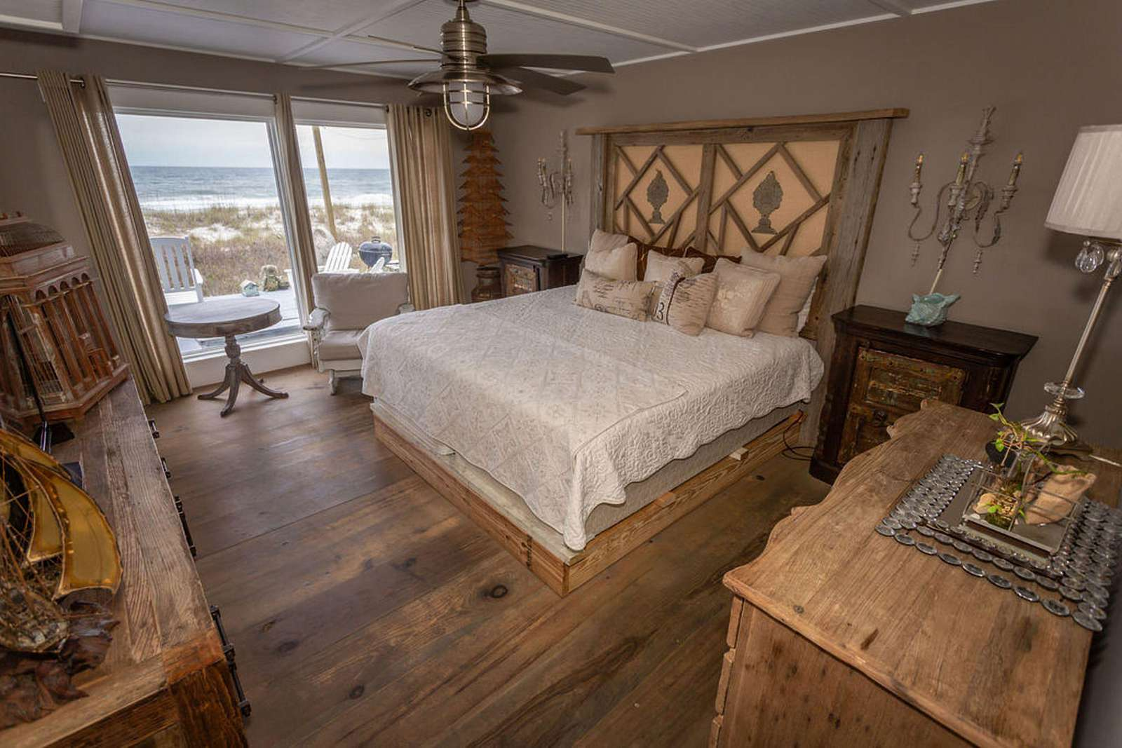 Bedroom #1 - king bed, flat screen, full bath with private exit