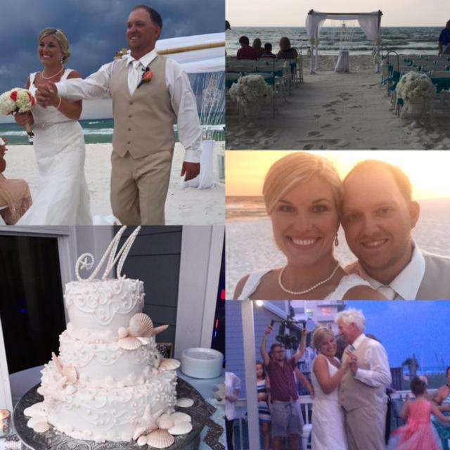 Beautiful bride & groom