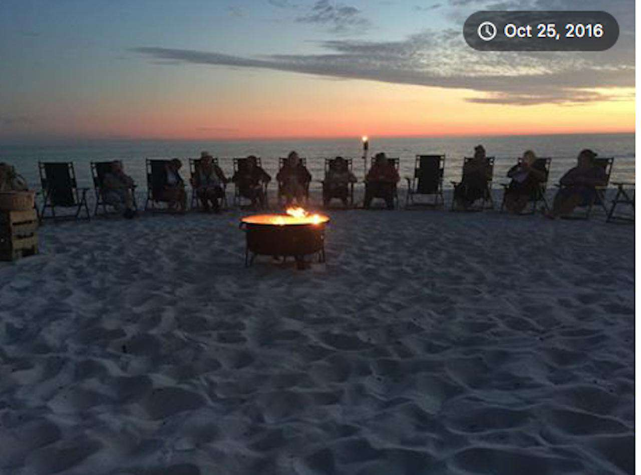 Gas bonfire and beach chair rentals-  850-866-1845