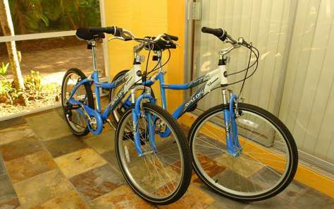 Optional are up to 6 bicycles available