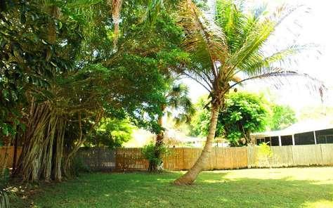Backyard / Property is on 1/2 acres