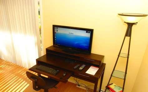 Computer and TV - Desk - Internet
