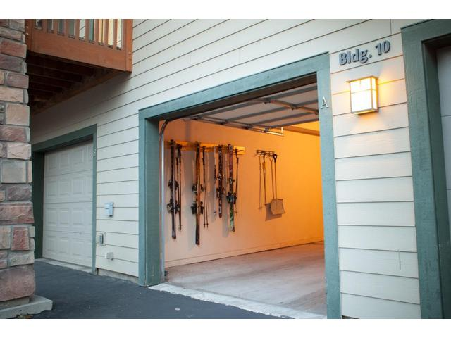 Garage is great for ski and other equipment storage