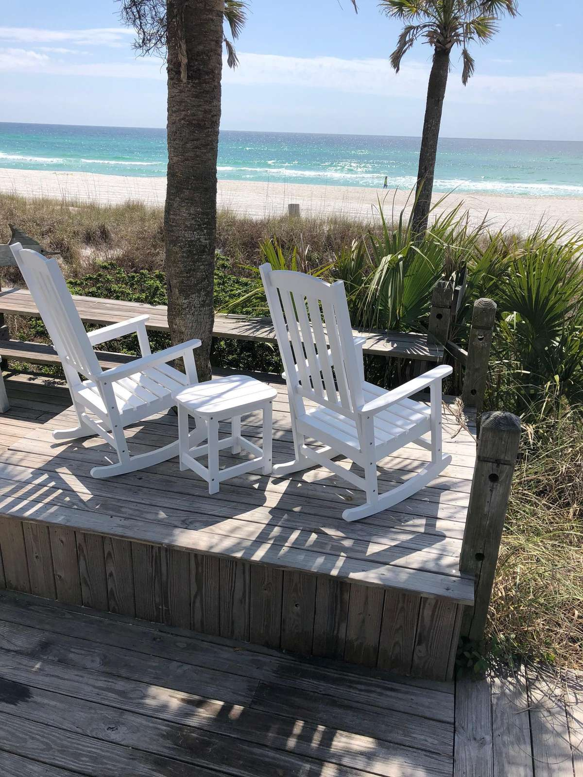 Rocking chairs -watch the sun set over the Gulf