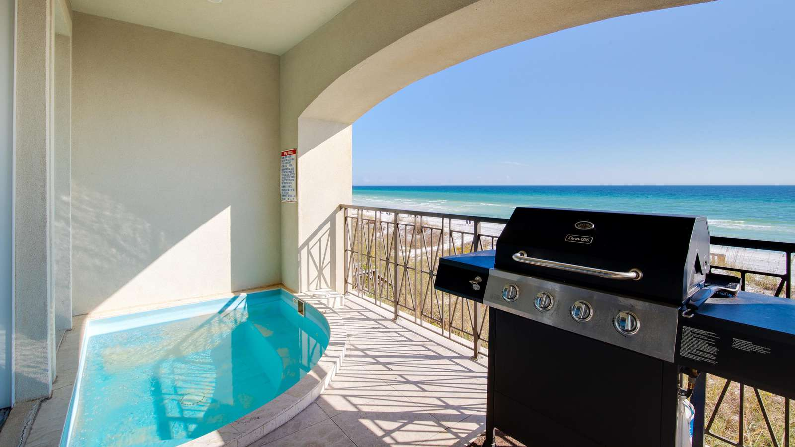Your private splash pool may be heated (optional).