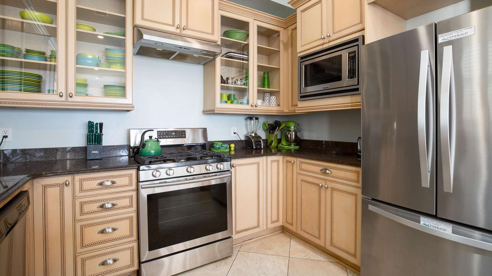The kitchen is stocked with all you need and more!