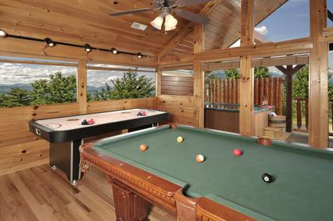 Come enjoy playing pool or air hockey in the loft