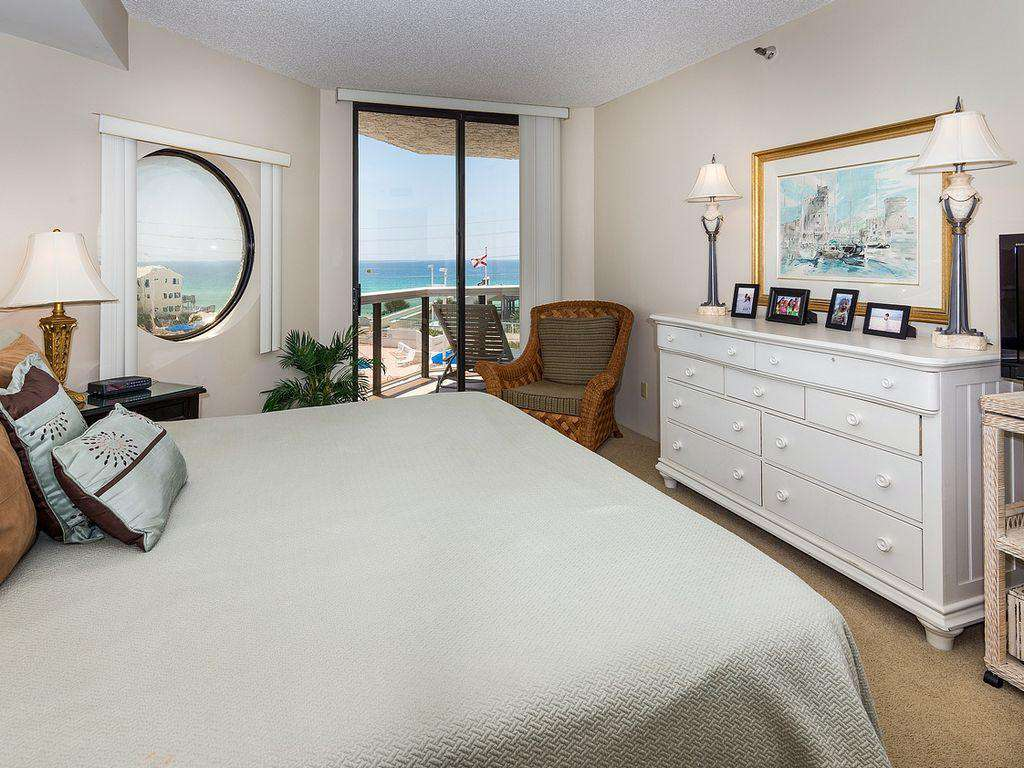 Walk right out onto the balcony from the master bedroom.
