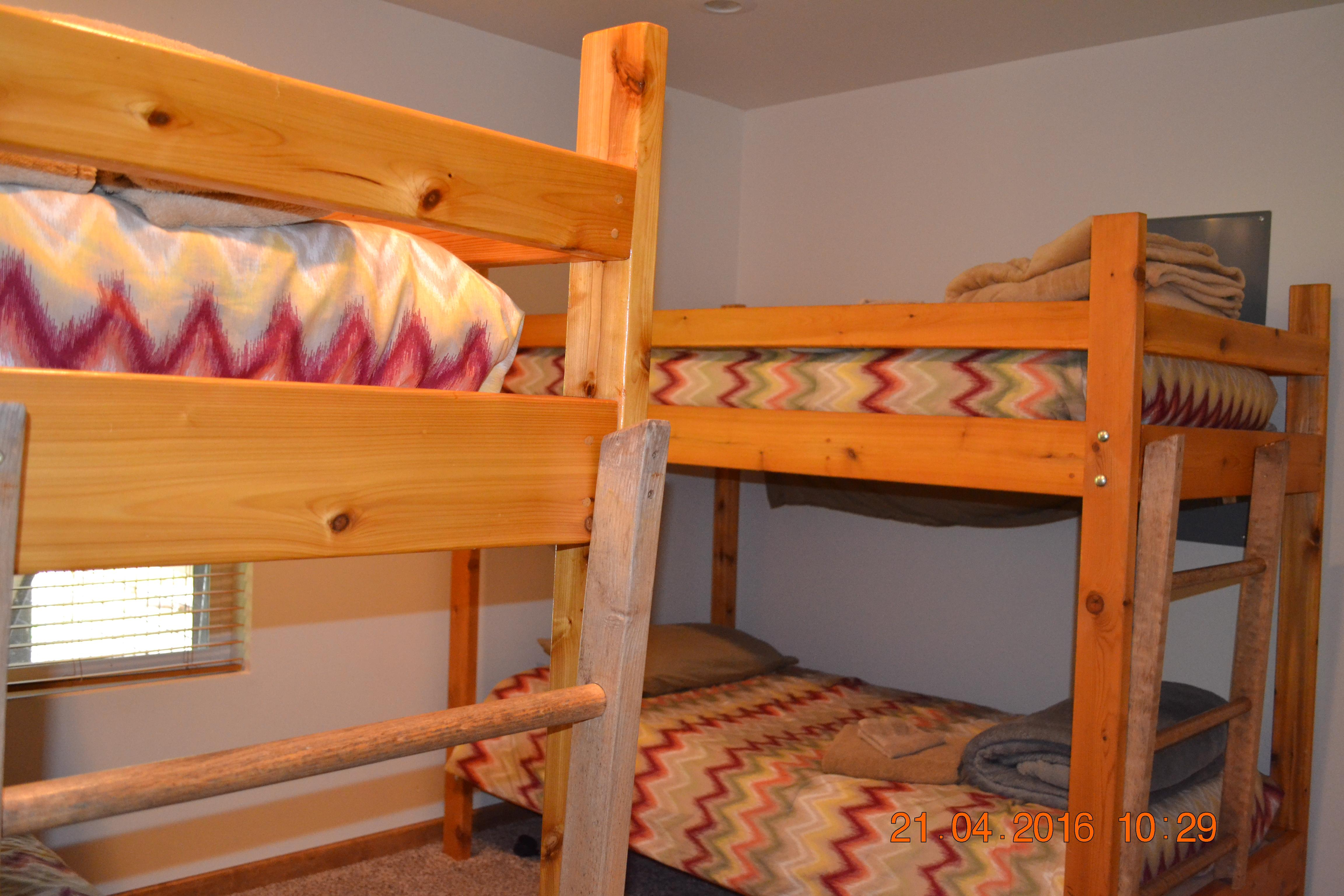 2 sets of Twin Bunks in the downstairs bedroom
