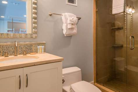 3rd Floor Bath Adjoining Loft Area - Glass Enclosed Shower