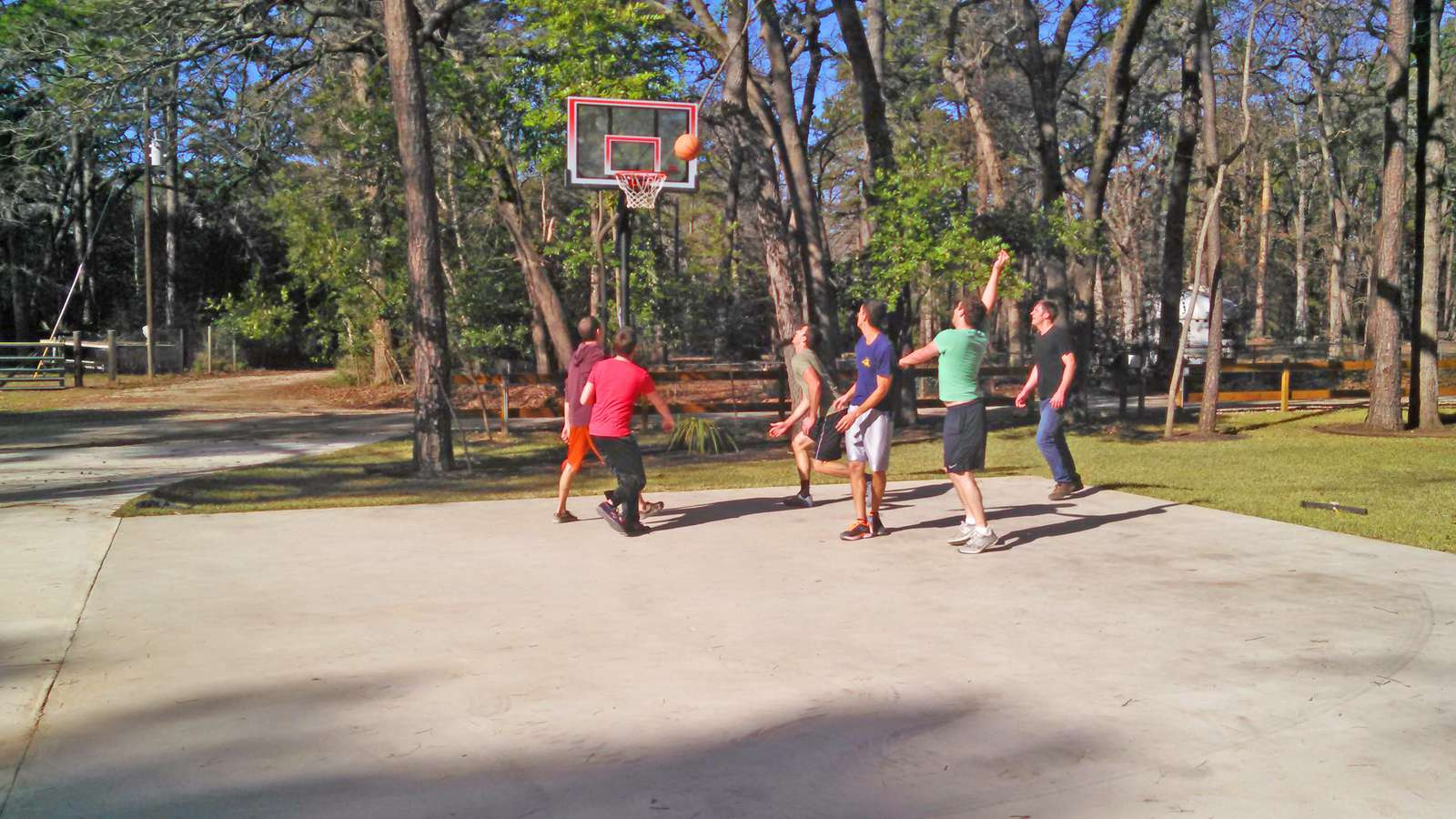 Just in case you have any energy left you can enjoy a game of basketball on our full court.