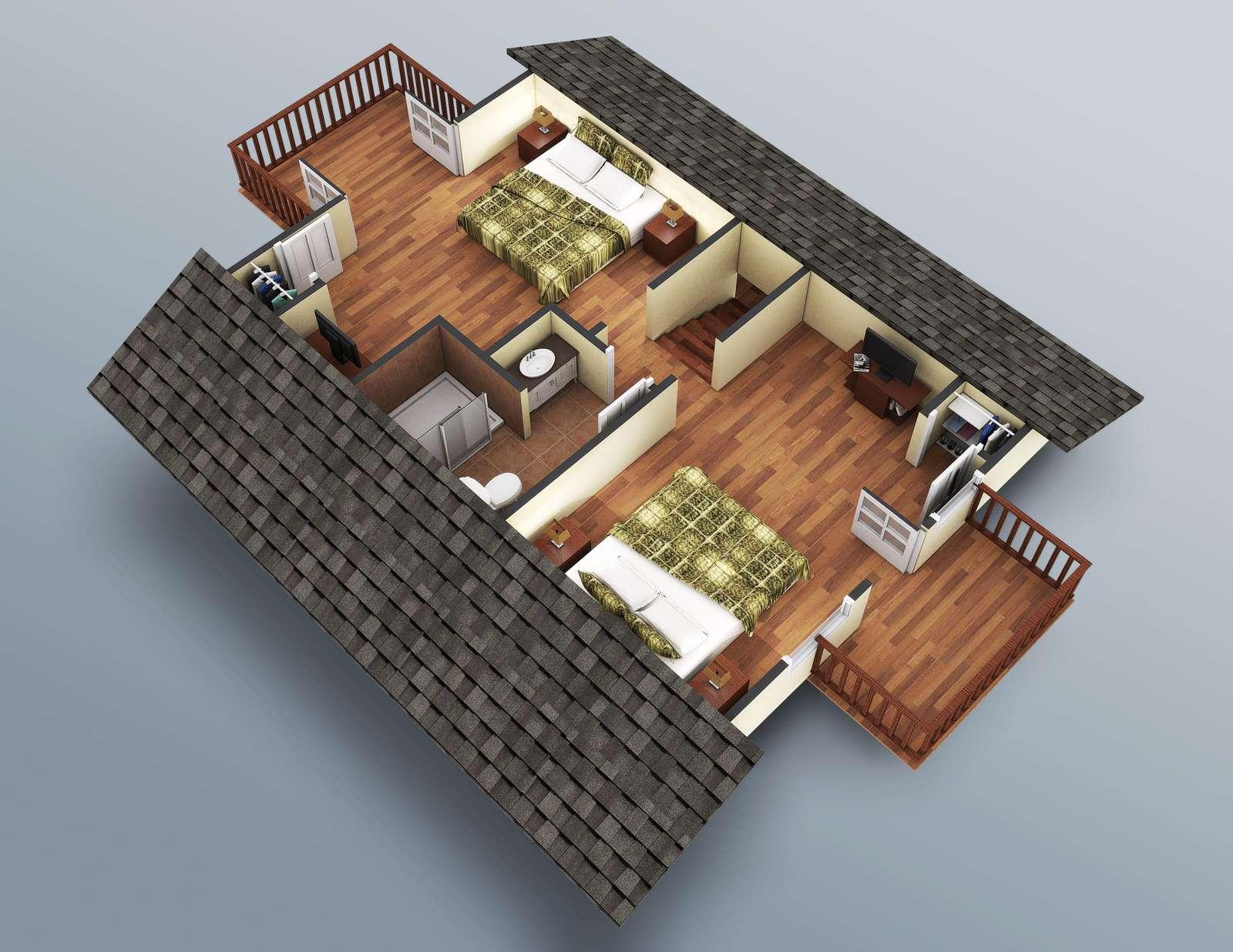 The Upstairs rendering.
