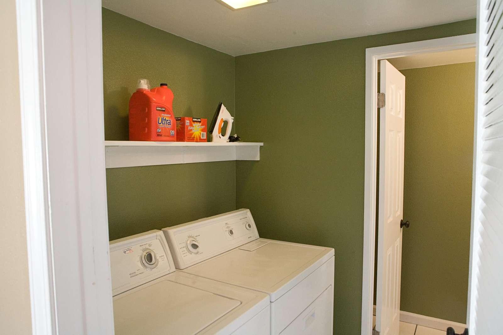 Laundry Room inside (1/2 bath downstairs too)