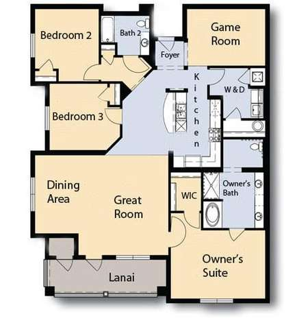 Floor plan of the unit