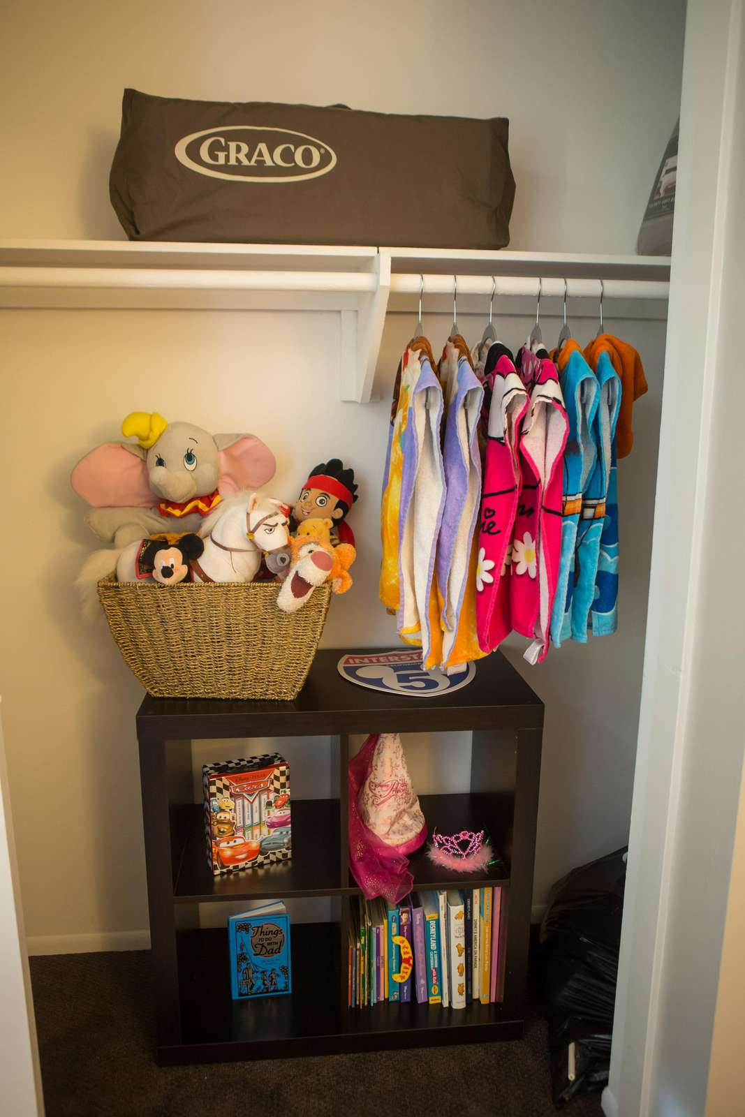 Pack-n-Play, Kid's books and toys and Disney bath towels