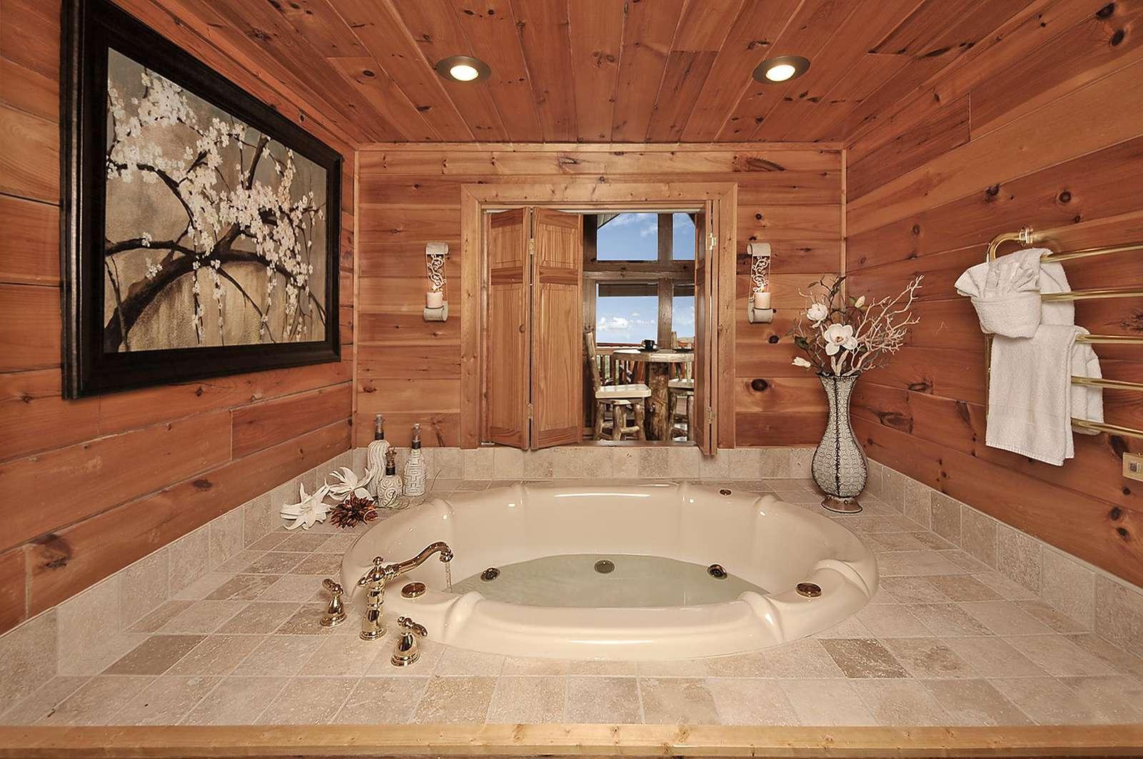 Loft Bathroom Jacuzzi Tub