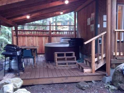 Covered Hot tub & Deck
