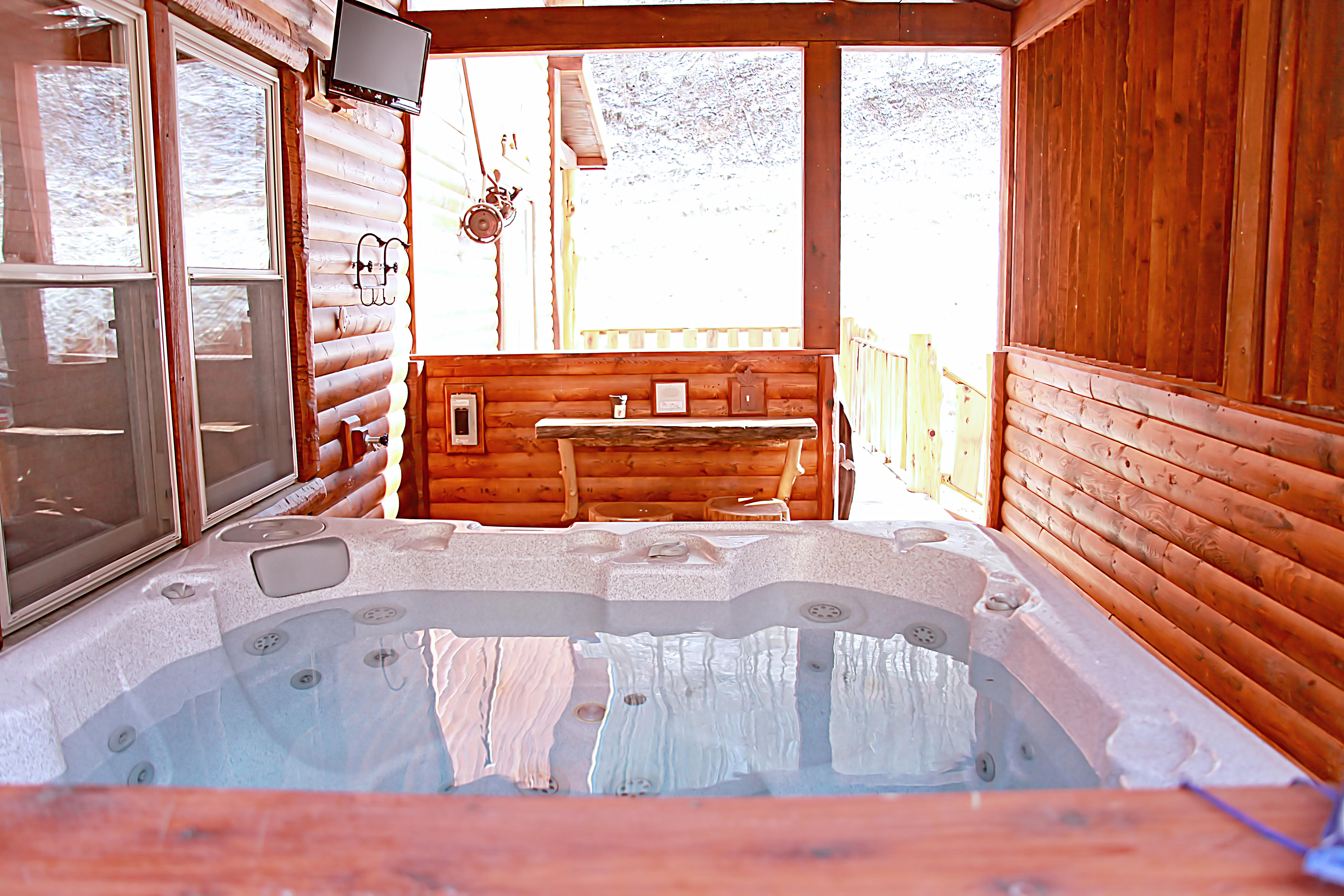 wv almost n it property ruff bearly rentals cabin hot tub heaven with cabins details in